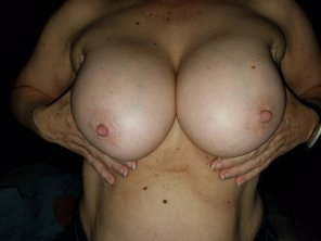 amateur photo Showing my nips!