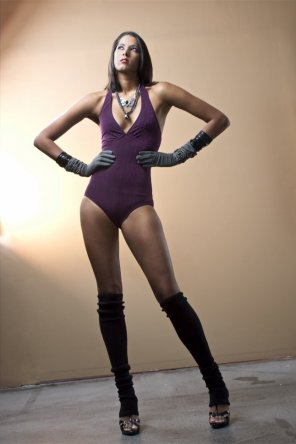 amateur photo Purple Leotard, Black Leg Warmers