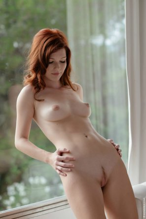 amateur photo Mia Sollis showing off her little strip