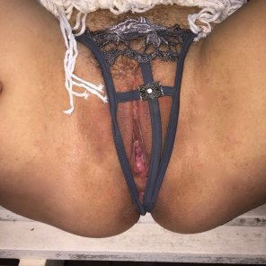 amateur photo Let me move these panties out of the way for you