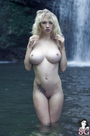 amateur photo By the waterfall