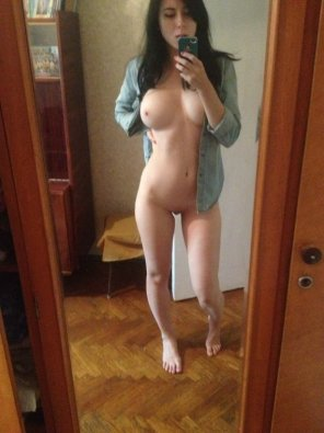 amateur photo Plaid pale brunette