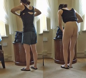 amateur photo Wife from behind