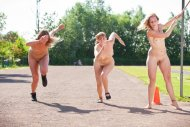 Nude track and field