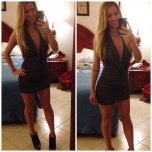 amateur photo Toned in a tight dress