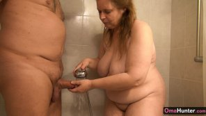 amateur photo Horny mature sucking dick in the shower