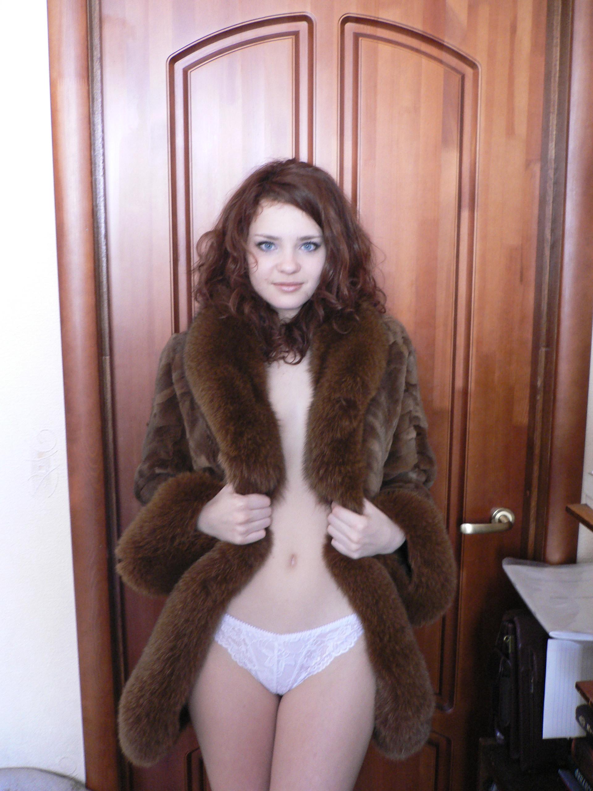 Not coat nude fur woman in what