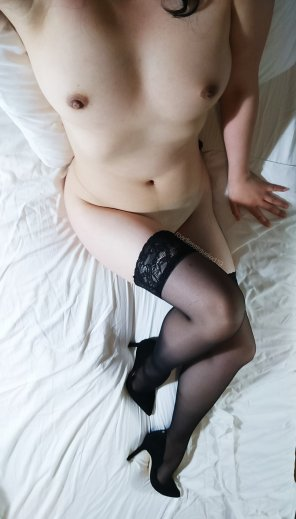 amateur photo I know I am spamming but because y'all are my [f]avorite... By request III Thigh highs and heels only 👠