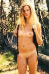 amateur photo Blonde Backpacker
