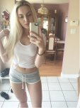 amateur photo Blonde With Little Shorts and Nice Legs