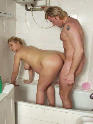 amateur photo Sex with a pregnant milf blonde in the bathroom