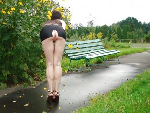 amateur photo Pussy in the park.