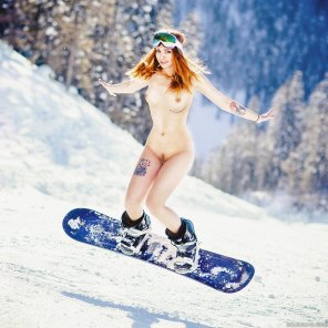 amateur photo Snowboarding Ginger