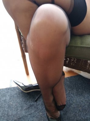 amateur photo Sheer Legs