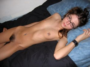 amateur photo Hottie in glasses