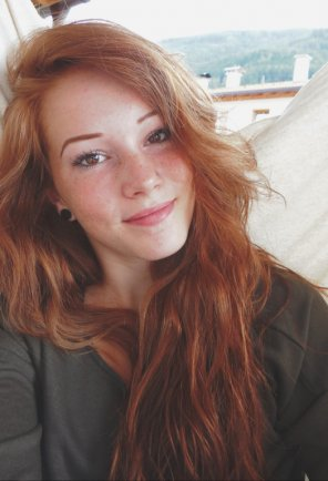 amateur photo Red hair and brown eyes