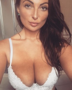 amateur photo White bra