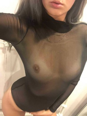 amateur photo Sheer bodysuits.. for when you want to be covered but still show everything of[f]