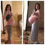amateur photo Is it a before and after if she's already huge?