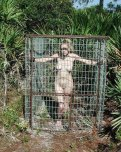 amateur photo Caged outdoors. That has to be fun.