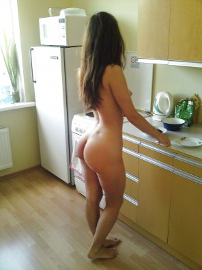 amateur photo No clothes allowed in the kitchen