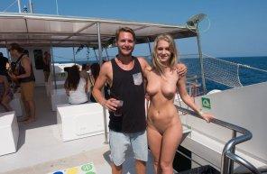 amateur photo On a tourist boat