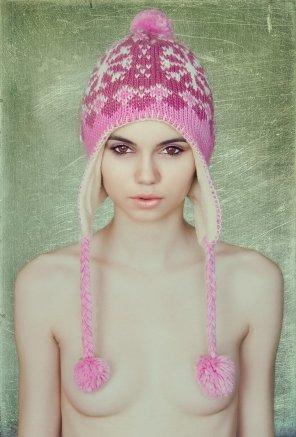 amateur photo Cute Pink Beanie