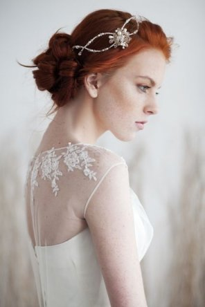 amateur photo Redhead bride
