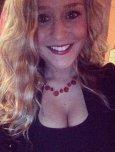 amateur photo Red necklace.