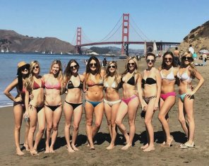 amateur photo Bikinis by the Bridge