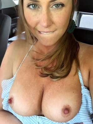 amateur photo In the front seat