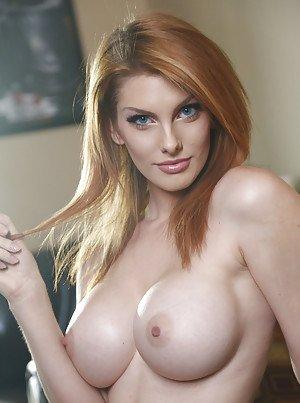 Busty red head porn