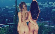 Two girls with nice asses