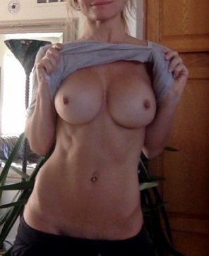 amateur photo Real girl, fake boobs