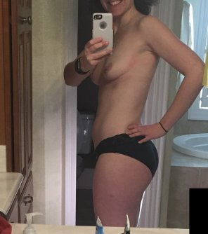 amateur photo My Wifey's first time topless on Reddit