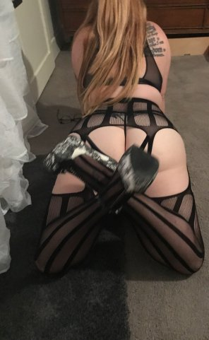 amateur photo Stockings and heels