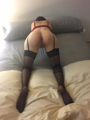 amateur photo 19 Year Old's First Time In Stockings & Garterbelt, On My Bed. Enjoy :)