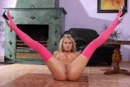 amateur photo Pink Stockings Up