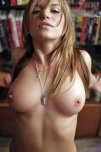 amateur photo Tits out at the library