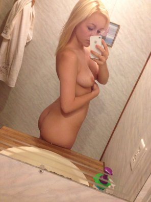 amateur photo Sexy Blonde in Mirror