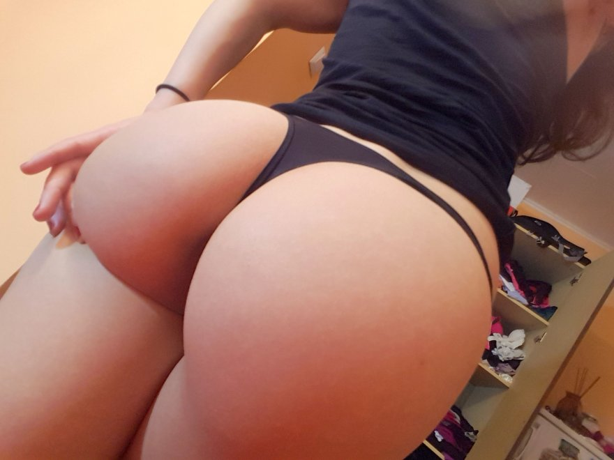 My black, tight thong! Porn Photo