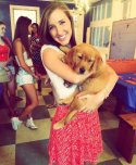 amateur photo Girl with puppy