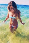 amateur photo Girl in the ocean