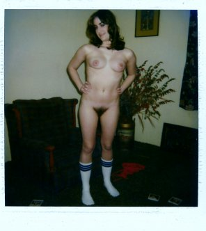 amateur photo Posing for knee socks lovers