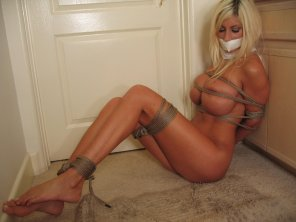 amateur photo Taped and Tied