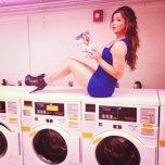 amateur photo At the laundry-mat