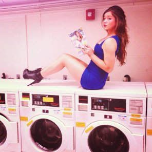 amateur photo At the laundry-mat