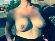 My wife Titty Tuesday outdoors