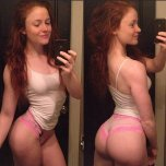 amateur photo Redhead selfie shows amazing body