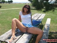 Genesis Pussy On Picnic Table